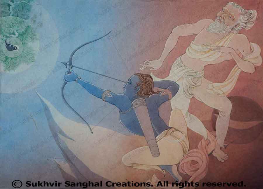 Arjun as a concentrated archer (Ekagrachit arjuna)