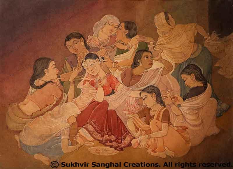 Makeover of the bride (Shringar)