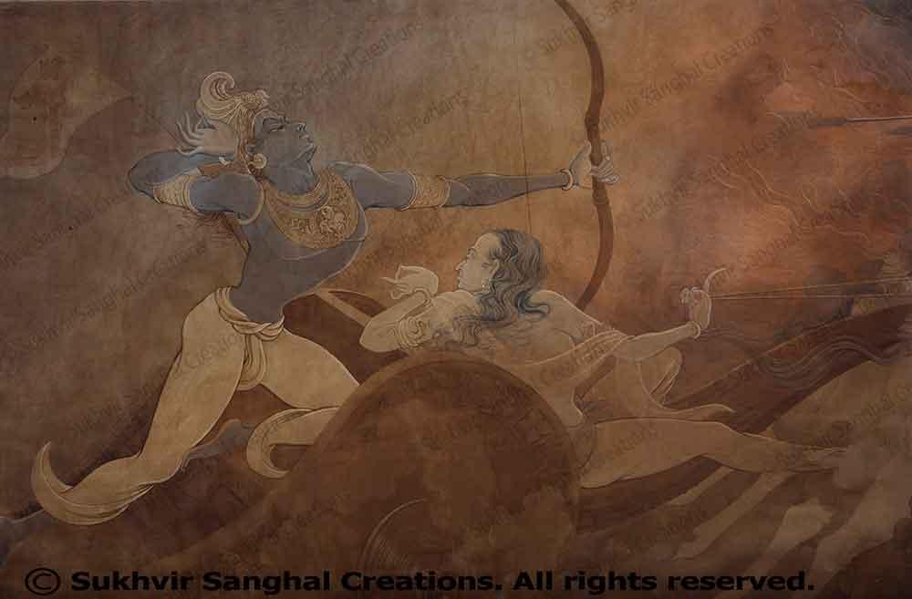Wash Paintings by Prof. Sukhvir Sanghal