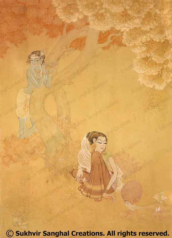 Silk Paintings by Prof. Sukhvir Sanghal