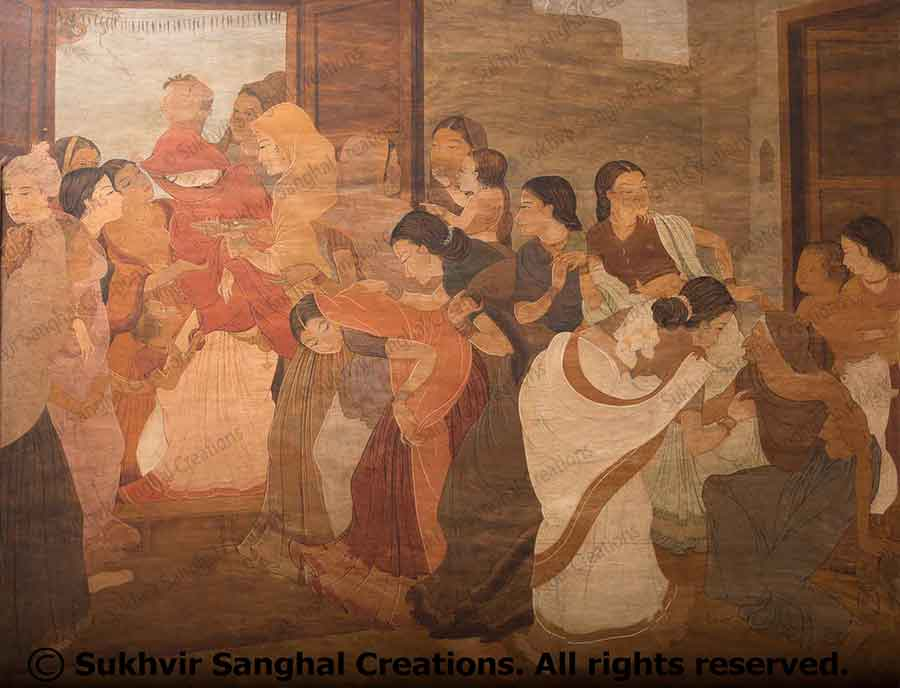 Wood Paintings by Prof. Sukhvir Sanghal
