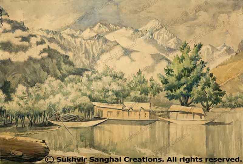 Landscapes by Prof. Sukhvir Sanghal